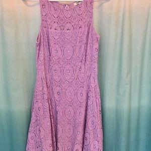 BB Dakota lavender lace skater dress . Worn twice